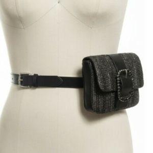 INC International Concepts Straw Belt Bag Fanny Ba